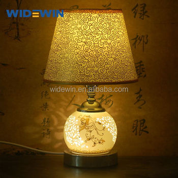 Chinese Style Table Lamp Ceramic Table Lamp Ww 0013 Buy Blue