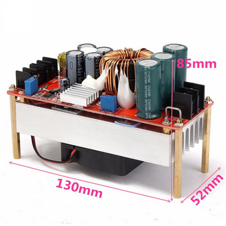 1500W 30A DC Boost Converter Step-up Power Supply Module In 10~60V Out 12~90V Electric Unit Modules Module