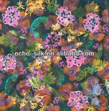cotton silk fabric custom