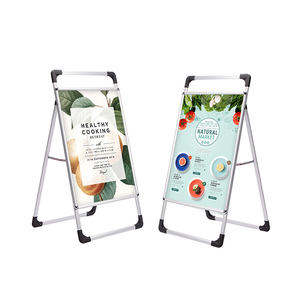 outdoor advertising road shop comercial 600*800mm A board swing sign standard 60 *80 poster holder aluminum pavement swing sign
