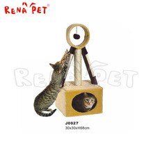 yellow pet product,sisal pet tree,wooden cat tree house