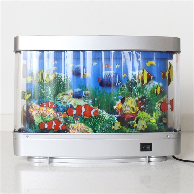 Nice Product With 3d Scene Led Aquarium Light 6w Abs Fish