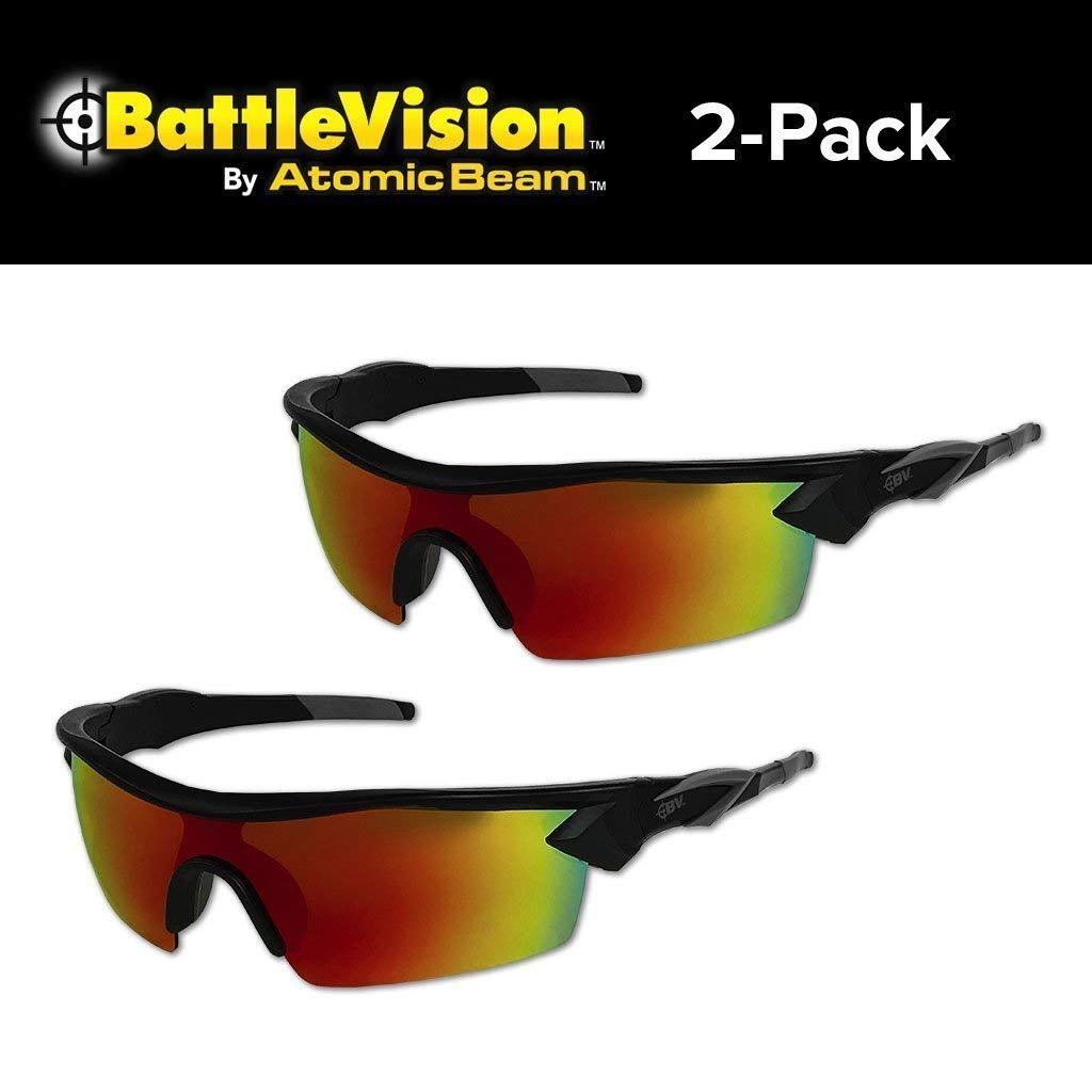 62cc4f44d3 Battle Vision HD Polarized Sunglasses UV Block Protect Eyes Vision Clarity 2  Pair