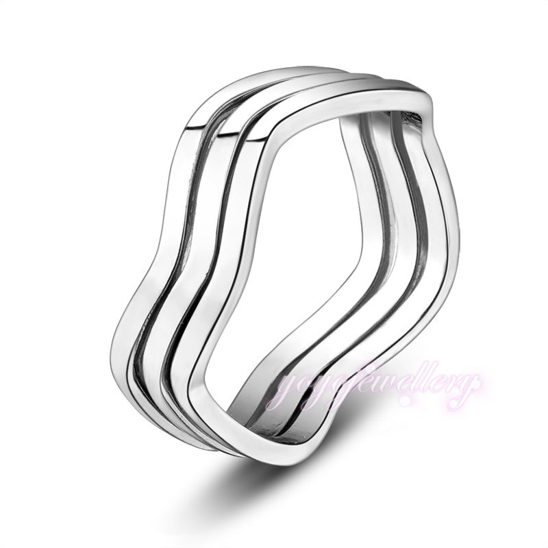 cheap trible circle ring jewelry without stone simple gold ring ...