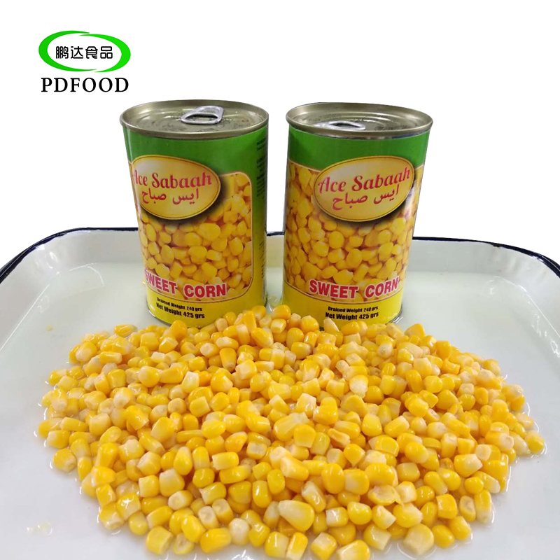 Wholesale canned food vietnamese sweet kernel corn