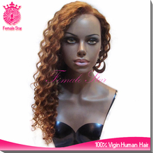 brown curly wave full lace black women wigs, human hair ladies wigs mumbai