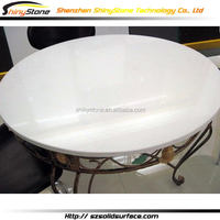 Translucent modern office modified solid surface solid wood slab dining tables