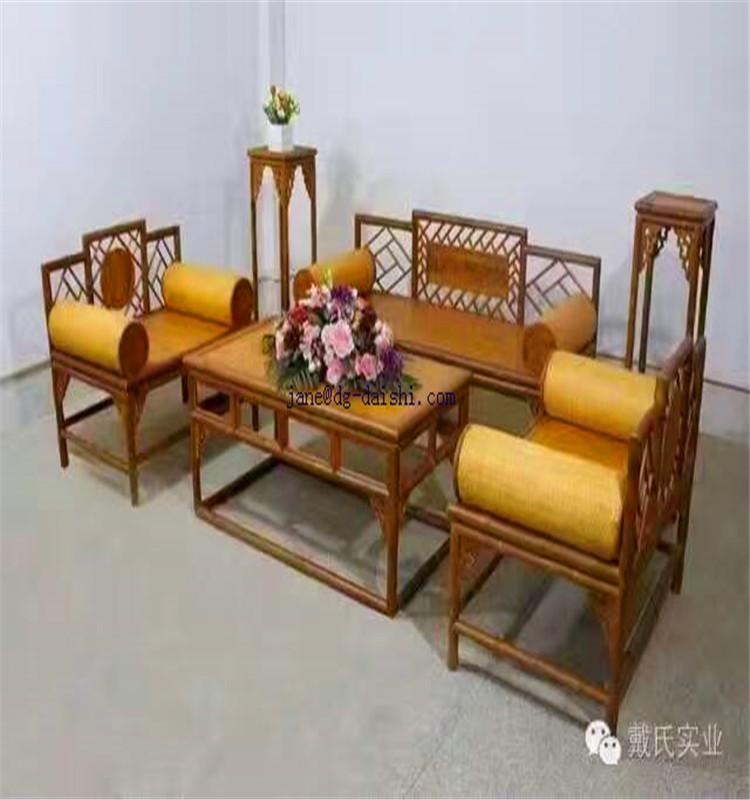 sof y mesa de bamb conjuntos