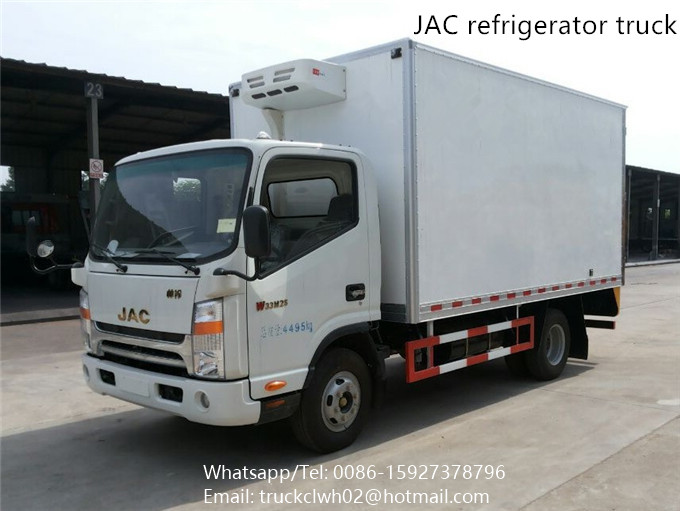 4x2 left and right hand drive JAC refrigerated cold room van truck for sale
