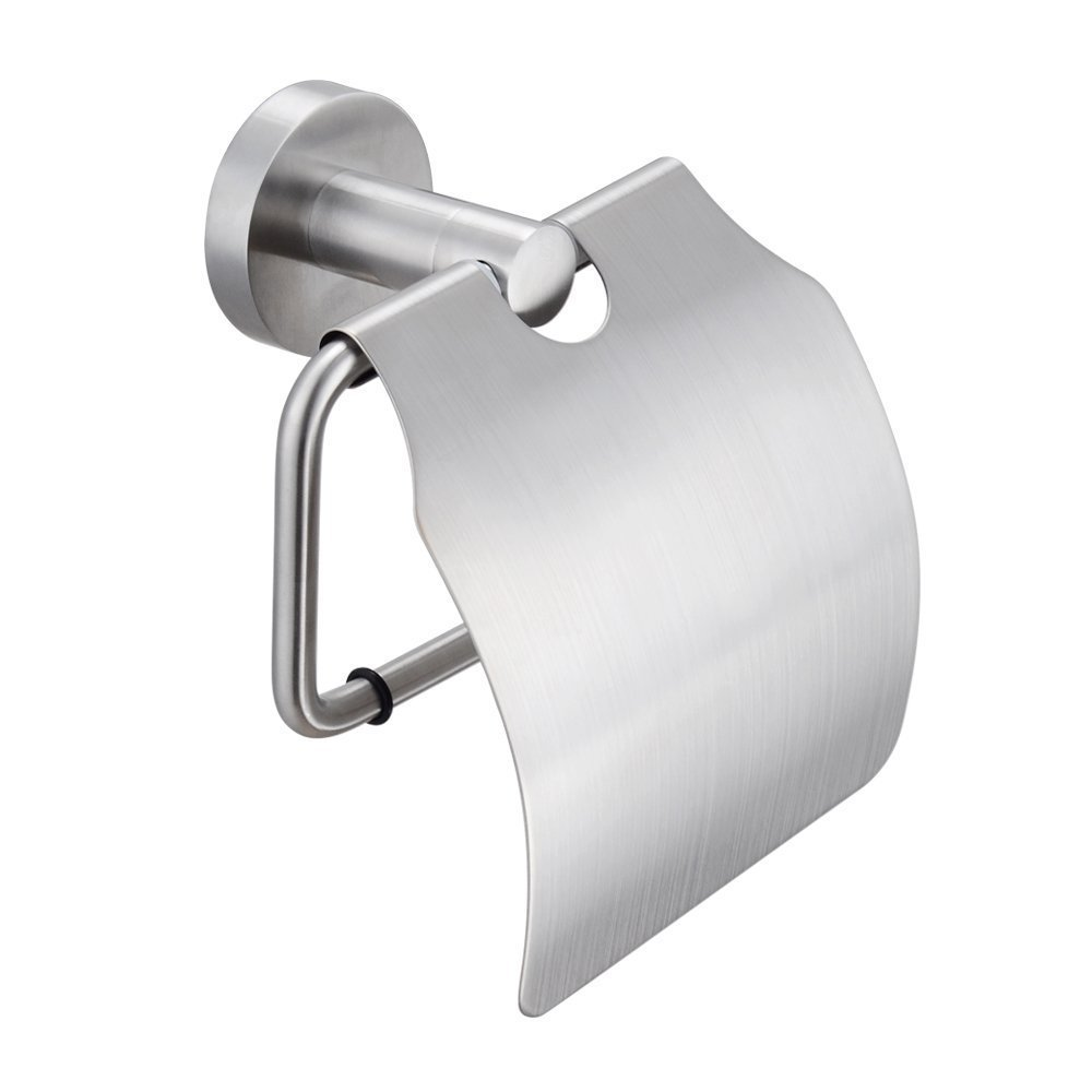 KES A2170-2 Stainless Steel Toilet Paper Holder Single Roll with Cover, Brushed SUS304 Stainless Steel