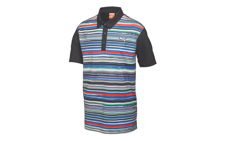 8c746b60 Puma Golf Road Map Polo Shirt 568312-04 White/Black/Green 2015 CLOSEOUT