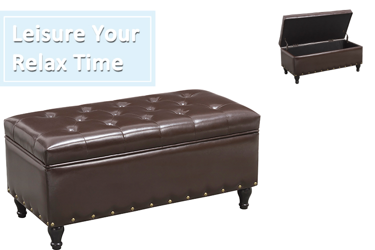 Best Selling  Storage Ottoman  Coffee Table bench Shaped Ottoman