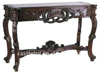 Luxury Untique Wooden Hand Carved Foyer Console Table