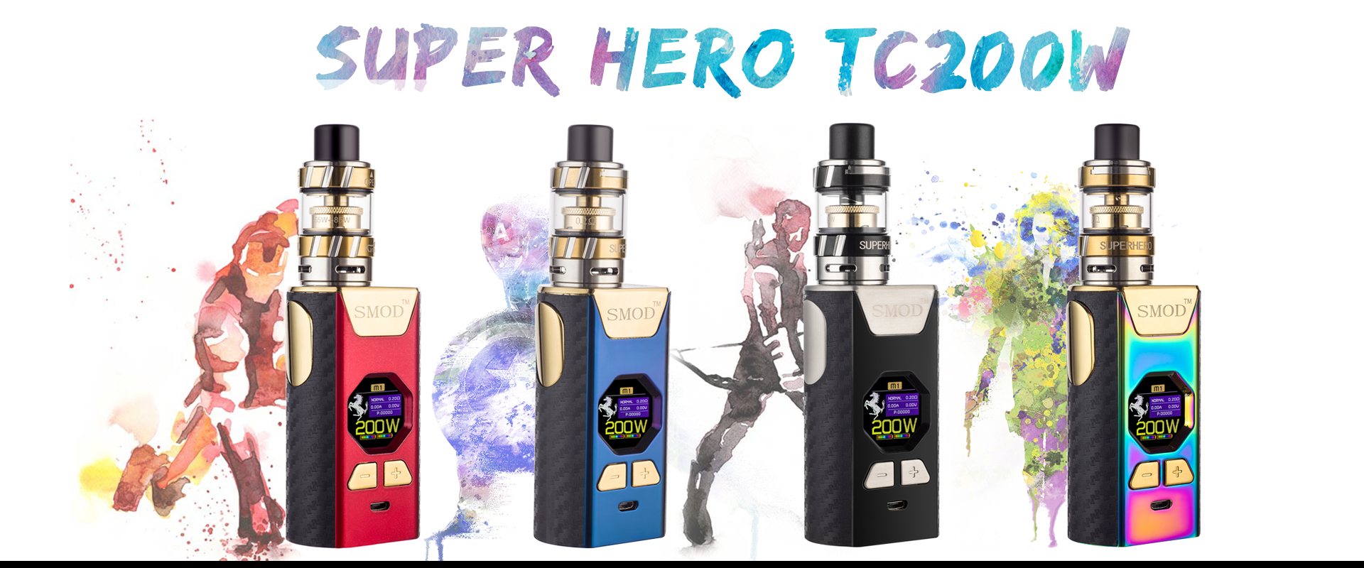 Kangvape SuperheroTC 200W genuine host high power steam smoke quit smoking electronic cigarette smart color screen