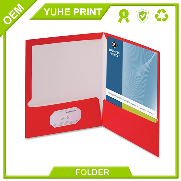 Eco friendly new design customized fashionable portable ring binder recyclable presentation folder with pocket