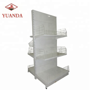Metal shop furniture supermarket gondola shelving price