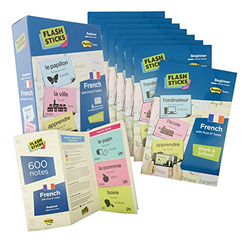 FlashSticks® French Flash Cards for Beginners | Best Way to Learn to Speak French | No Language Courses Needed | Beginners Vocabulary Study Cards Make Learning a Game | Free Online App Helps With Pronunciation | Perfect For Adults & Kids