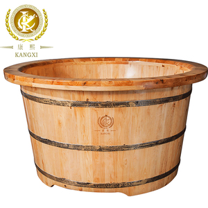 Chinese Cedar Freestanding Luxury Sauna Wooden Removable Bathtub Hot Tub
