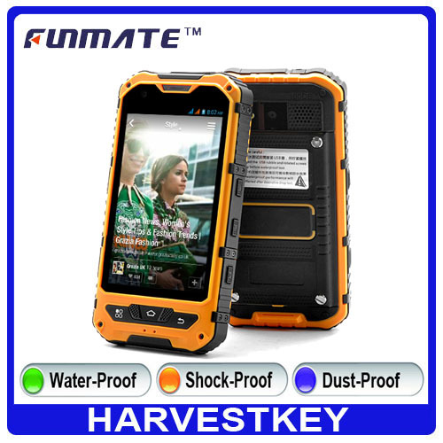 NEW 4inch IPS dual core waterproof IP67 rugged waterproof shockproof dustproof cell phone