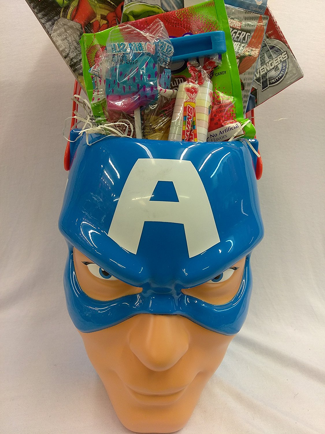 delightful Captain America Easter Basket Part - 8: Happy Boys CAPTAIN AMERICA Figure Easter Basket Kids Toddlers Gift Children  Pre Made Eggs Goodies Candy