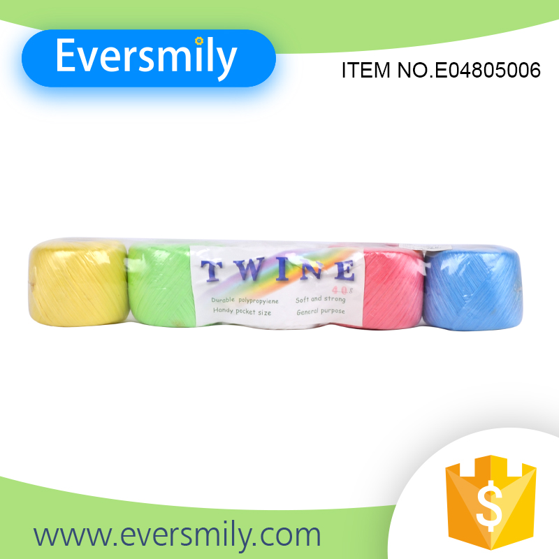 Hot selling top quality colorful plastic pp twine with good price