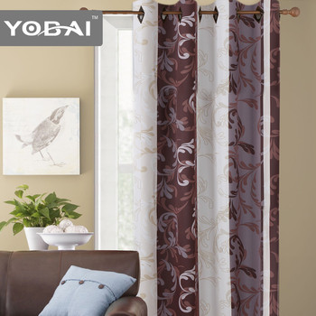 eenvoudige ontwerp vlakte oosterse stof polyester klaar gemaakt oostenrijkse gordijnen