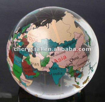 crystal colorful globe ball pendant glass world map globe ornament