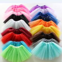 2017 Kids Tulle Tutu Fluffy Skirt Summer Ballet Dance Birthday Party Cheap Girl Skirts