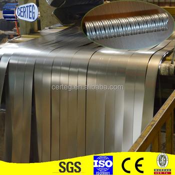 Galvanised steel strip