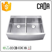 Guangdong topmount installation type 304 stainless steel farmhouse sink