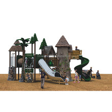 2017 Popular Private School Outdoor Children Playground Equipment Return To Nature Series Game Toy With Kids Slide For Sale