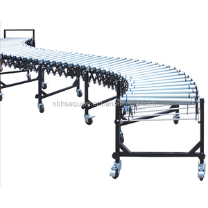 Telescopic steel roller manual conveyor belt