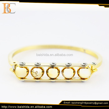 Fashion jewelry 316L stainless steel gold plated charm bracelet for women