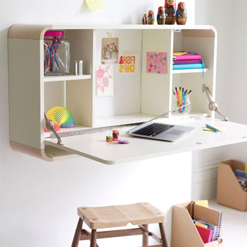 Folding Wall mounted Wall Shelf Drop leaf Desk Kids Living Room Mounted Down Study Table