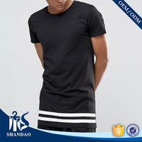 China Shandao OEM Summer Casual Men O-Neck Short Sleeve Printing 160g 85% Cotton 15% Polyester T Shirt Design High Quality