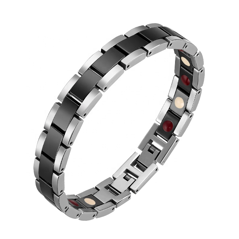 Men and Women Couple Japanese Germanium <strong>Energy</strong> <strong>Magnetic</strong> Therapy Ceramic <strong>Bracelet</strong>