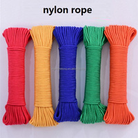 nylon braided rope 2mm 3mm 4mm 6mm 8mm 10mm 12mm