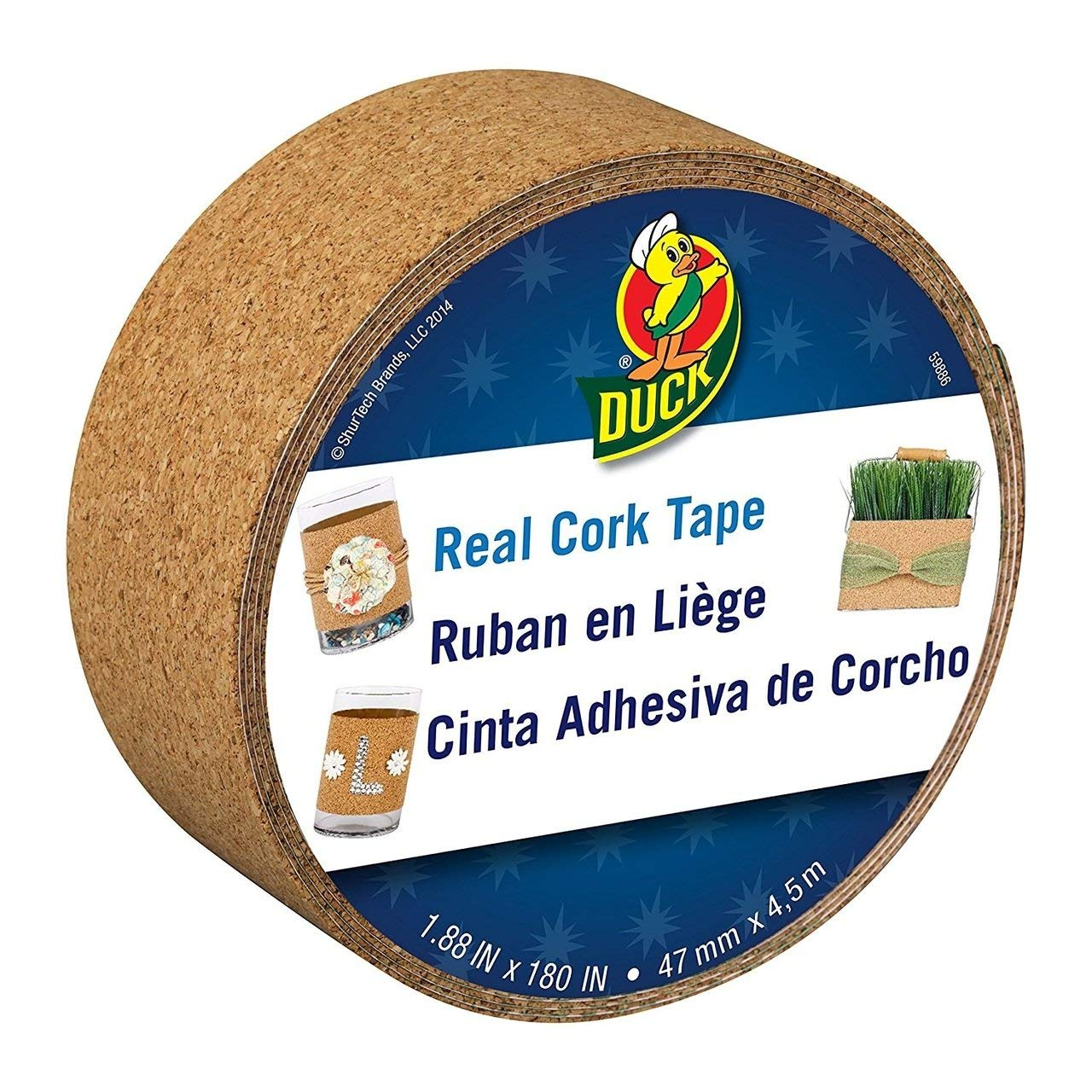 "Bulk Cork Tape, 1.88""x 180"": Duck Brand 284879 (76 Cork Tape Rolls)"