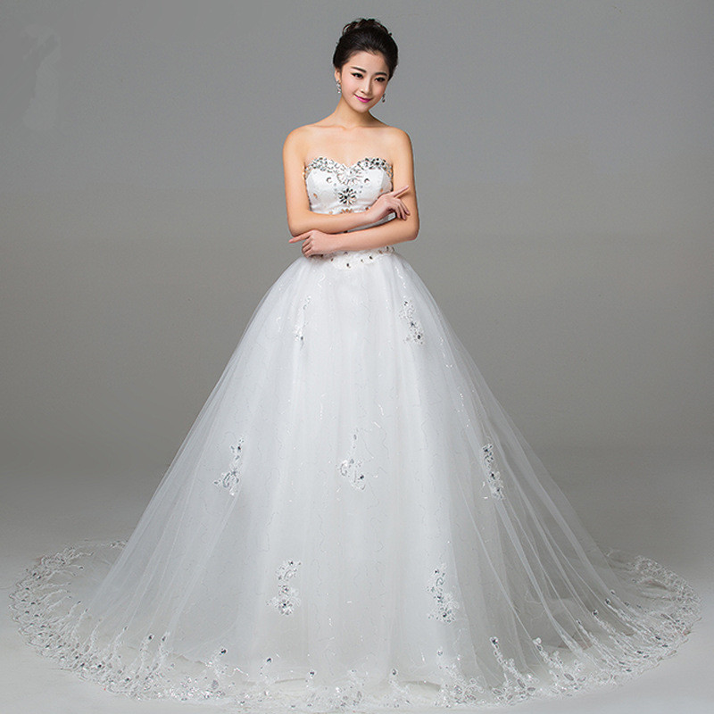 Z91708A Wedding dresses the bride wedding fashion white lace with neat, simple wedding dress