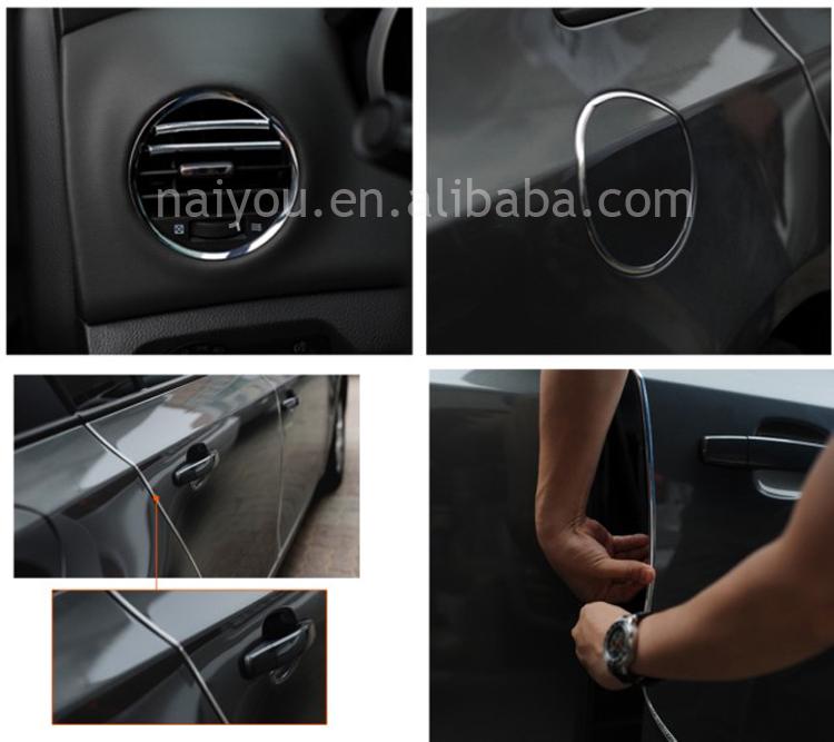 high adhesive chrome trim edge guard car door protection trim buy car door edge guard car door. Black Bedroom Furniture Sets. Home Design Ideas