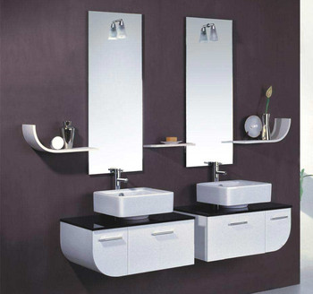 Simple Design 32 Inch Bathroom Vanity Cabinet With Sink And Basen