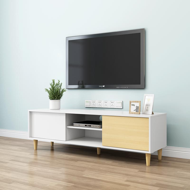 Modern TV stand set apartment MDF tv stand living room furniture
