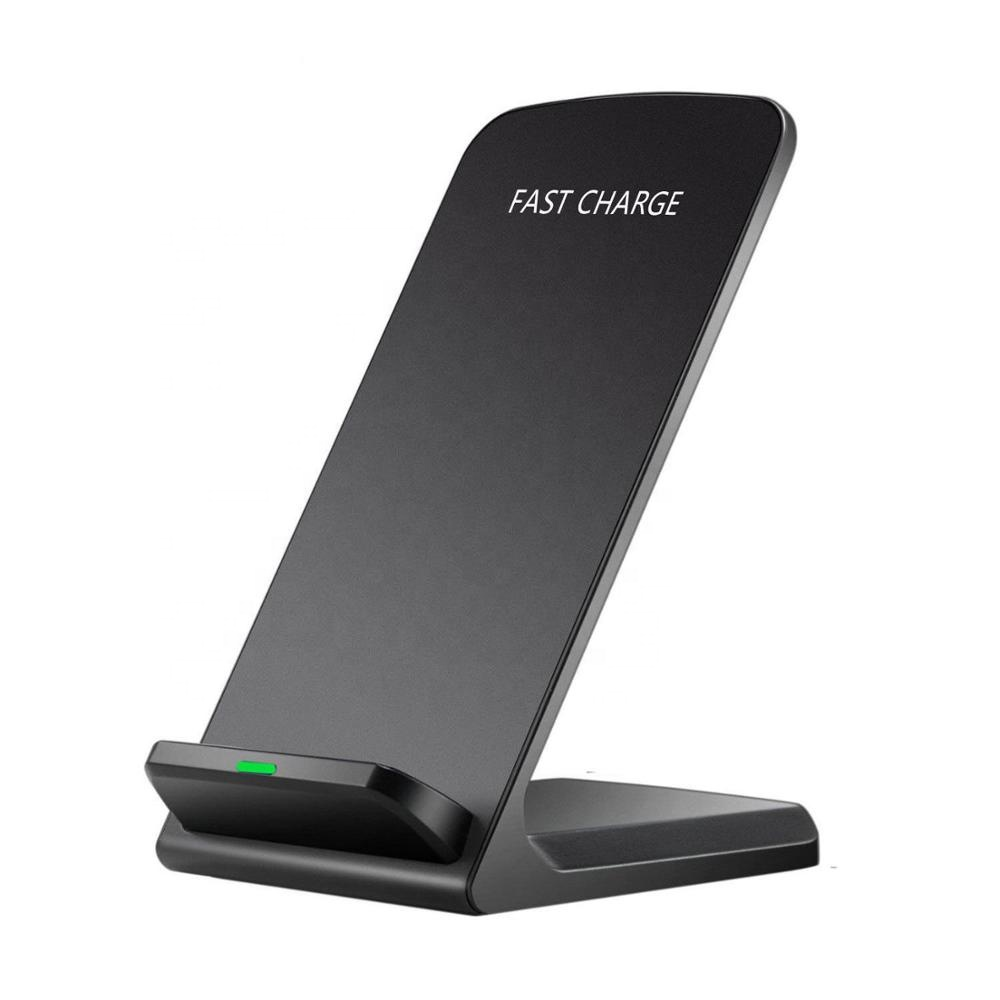 Guangdong Desktop Fast Wireless Charger Stand with Glossy Surface for iPhone XS and Samsung Galaxy S9/S8 mobile phones