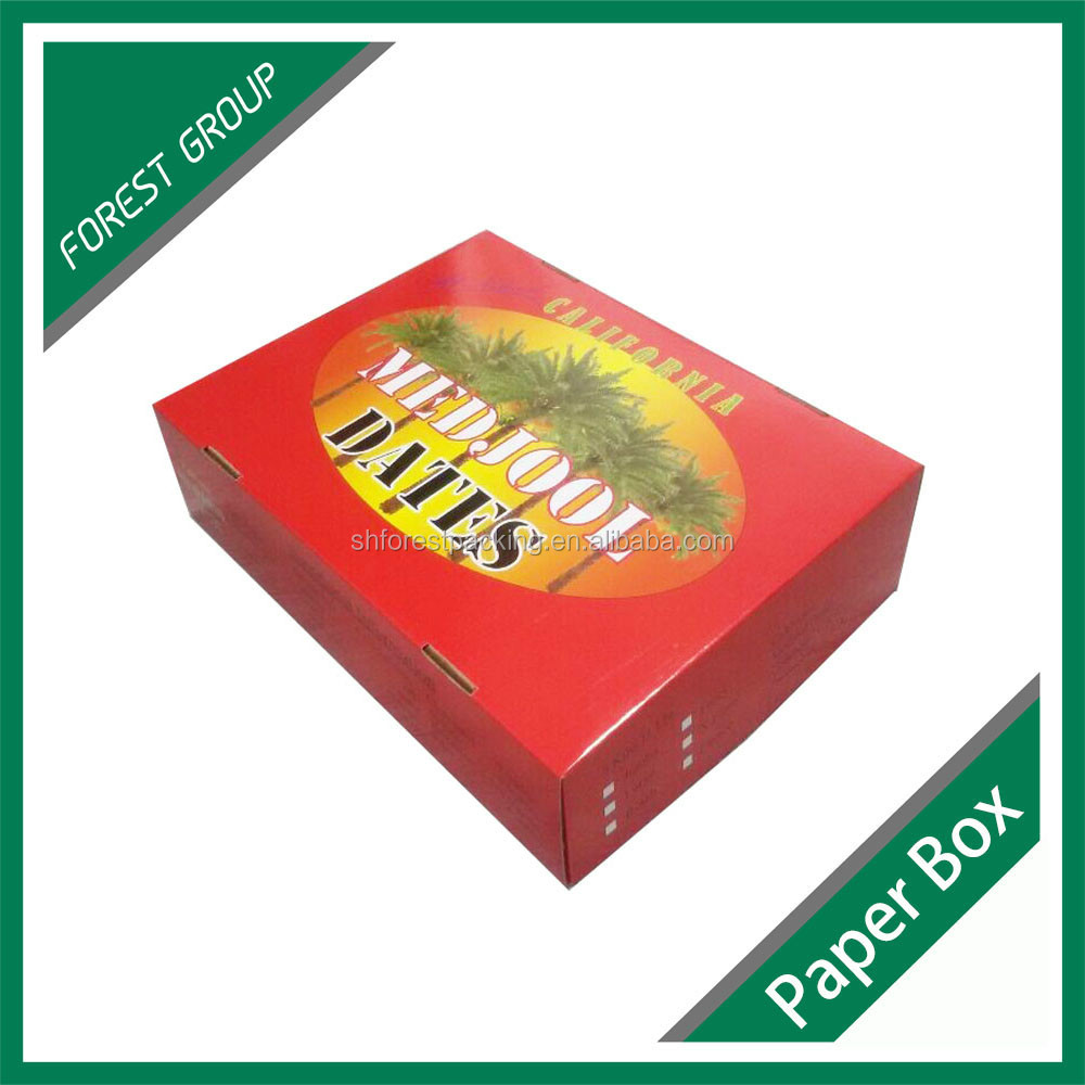 customized color printing packaging moving box for fruit shpping