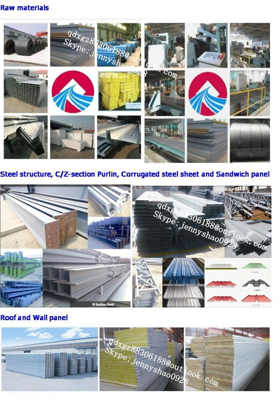 Sandwich panel steel warehouse construction