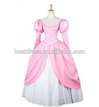 New Adult Princess Mermaid Princess Ariel Pink Dress Cosplay Made Costume Buy Mermaid Costume Ariel Princess Costumes Cosplay Costumes Product On Alibaba Com