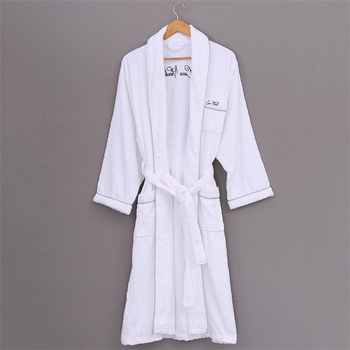 custom towel lightweight fleece cheap high quality white or color spa shower family bathrobe set