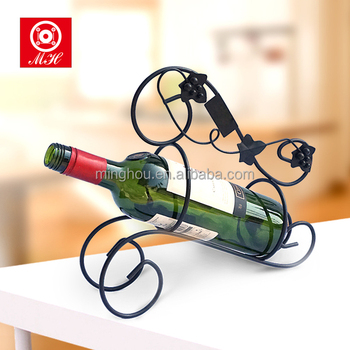2017 Creative Single Bottle Tabletop Decorative Wrought Iron Wine
