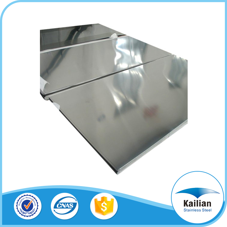 High quality 16-18% chrome grade PVC protection stainless steel sheet