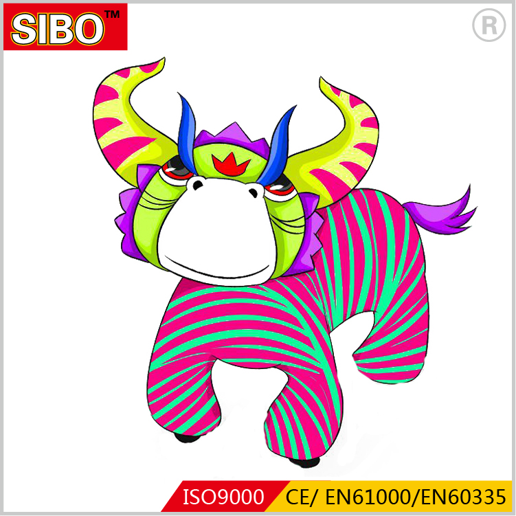 Sibo plush walking animal rides animal rides games toys for kids with LED